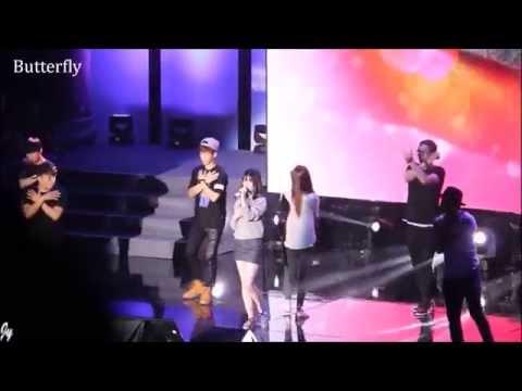 1080p [Fancam] 140906 [SNSD] Jessica & f(x) Krystal / Rehearsal - Li Ning Fan Meeting