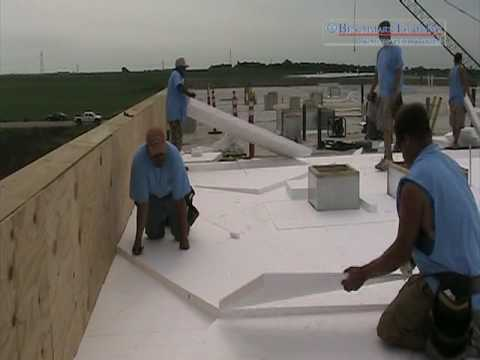 Eps Tapered Roofing Insulation On A Rubber Roof Youtube