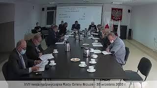 XVII sesja nadzwyczajna Rady Gminy Brzuze