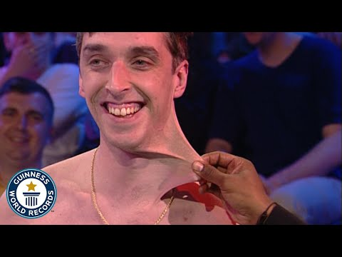 Stretchiest skin in the world! - Guinness World Records