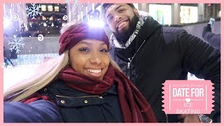 WE WENT ON A DATE ICE SKATING!