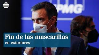 Sánchez pone fecha al fin de las mascarillas en la calle