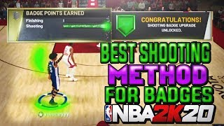 HOW I GOT 4 HOF BADGES AND 91 OVERALL IN 1 DAY! THIS IS THE BEST SHOOTING METHOD FOR BADGES!