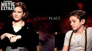 A QUIET PLACE (2018) Millicent Simmonds & Noah Jupe talk about their experience making the movie