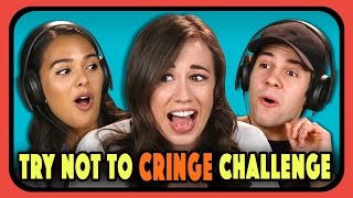 YOUTUBERS REACT TO TRY NOT TO CRINGE COMPILATION #2