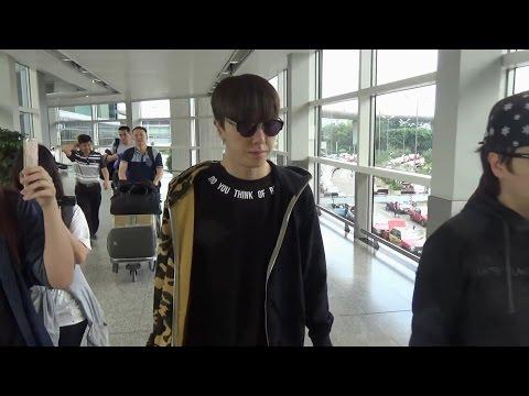 EXO Dance Tutor - Kasper 金泰宇Kim Tae Woo(김태우) Leave Hong Kong Airport 20160515