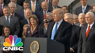 President Donald Trump Congratulates GOP Leaders On Tax Bill Victory | CNBC