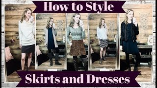 How to Style: Skirts and Dresses for Winter/Early Spring