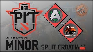Alliance vs Majestic / Bo3 / OGA Dota PIT Minor 2019  / Dota 2 Live