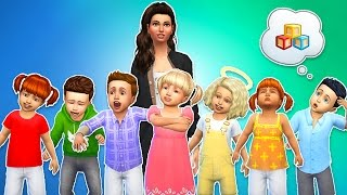 The Sims 4 - SEVEN TODDLER CHALLENGE!! (Sims 4, Episode 1)