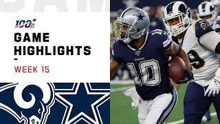 Rams vs. Cowboys Week 15 Highlights | NFL 2019