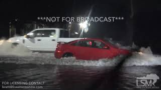 9-15-18 Goldsboro, NC Flood Emergency - HWY70 Impassable - Cars in High Water - SubDivision Flooded