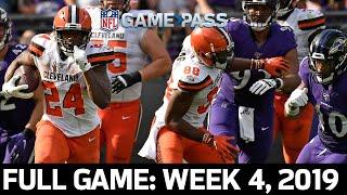 Cleveland Browns vs. Baltimore Ravens Week 4, 2019 Full Game