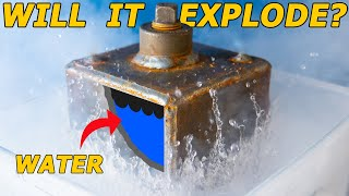 Keeping ICE from EXPANDING?? (in liquid nitrogen)