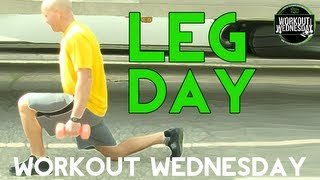 2 Dumbbell Leg Exercises - How To Do Lunges & Squats