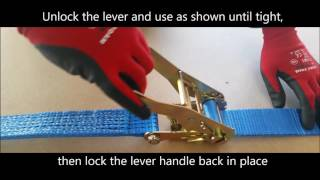 How to use a Ratchet Strap - Rope Services Direct