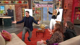 """Rachael and Hubby John Go Head-to-Head With Jason Biggs and Jenny Mollen In """"Kitchen-ary"""""""