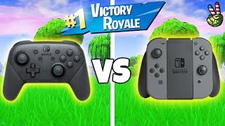 FORTNITE NINTENDO SWITCH! (Pro Controller VS Joy-Cons)