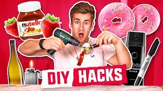 TESTING OUT THE ULTIMATE DIY FOOD HACKS
