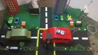 Road Safety Automatic Breaking System Through Cloud Server (Hindi)
