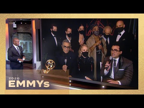 Schitt's Creek Cast Reacts to HISTORIC Emmy Wins and Talks Reunion Movie! (Exclusive)