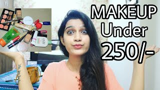 Make-Up Beginners Kit Under 250/- | Affordable Makeup products In India | College Edition