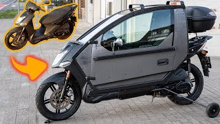 Making of futuristic motorcycle - I Modified Scooter to  the two-wheeled vehicle