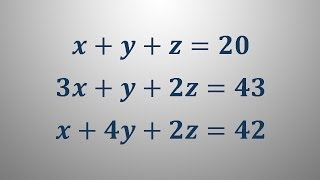 Sistem treh linearnih enačb 1