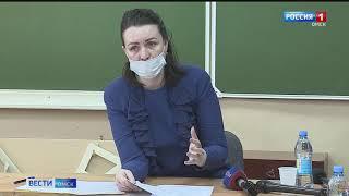 Оксана Фадина сегодня побывала в «замерзающих» образовательных учреждениях Советского округа