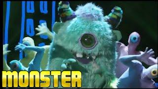 Masked Singer Monster all Performances & Reveal | Season 1