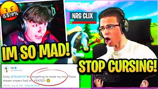 CLIX Tries *NOT CURSING* with NICK EH 30 but FAILS Miserably when STREAM SNIPERS do THIS! (Fortnite)