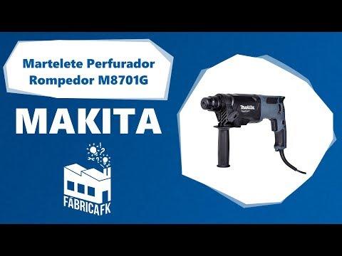 Martelete Perfurador Rompedor 800W M8701G Makita – 220V - Vídeo explicativo