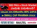 Stock Market Fall?,TATA Motors stock fall, Raitel stock, Future retail stock, small cap pharma stock