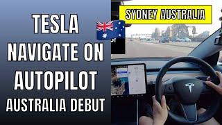 Tesla Navigate on Autopilot drops in Australia (40.50.5)