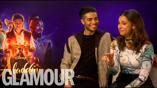 "Aladdin's Naomi Scott & Mena Massoud's dating advice: ""Smash his serpent"""