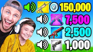 GUESS The SOUND vs MY FAMILY in Fortnite (100,000 VBUCKS)