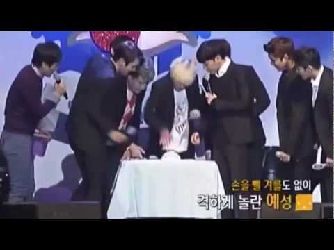 KYUHYUN YESUNG electric shock from lie ditector@ SUPER JUNIOR 7TH ANNIVERSARY PARTY