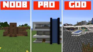 Minecraft Battle: EPIC MODERN HOUSE in Minecraft / Noob vs Pro vs Hacker in Minecraft Animation
