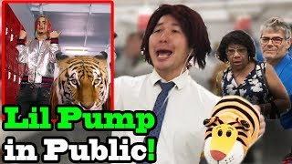 """LIL PUMP - """"Gucci Gang"""" x """"ESKETIT"""" - SINGING IN PUBLIC!!"""