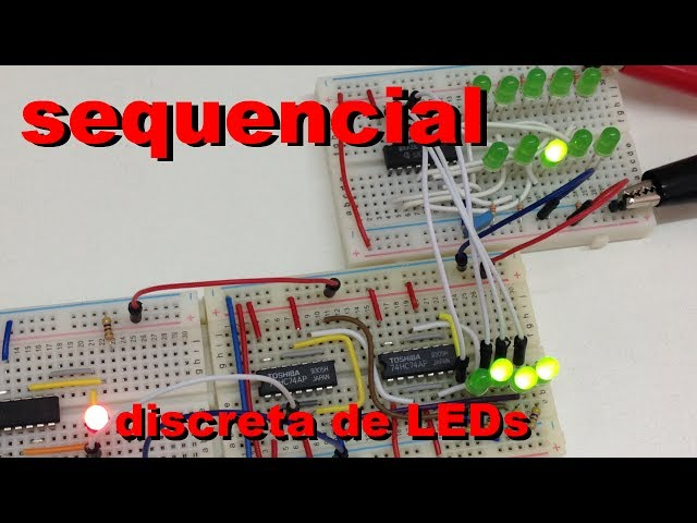 SEQUENCIAL DISCRETA DE LEDs | Conheça Eletrônica! #031