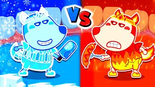 Wolf Family⭐️ Hot vs Cold Teeth Challenge #2 - Protect Your Teeth with Wolfoo   Kids Cartoon