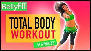10-min Full Body Burn | Workout & Belly Dance