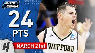 Fletcher Magee Full Highlights Seton Hall Pirates vs Wofford Terriers 2019.03.21 - 24 Points, SICK!