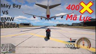 GTA 5 Siêu Xe BMW 1000RR Độ 400 Mã Lực Đua Với Máy Bay Phản Lực Boeing 747 Lớn Nhất Thế Giới