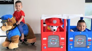 GIANT Paw Patrol Ride On Plush Chase Marshall Kids Fun Pretend Play Ckn Toys