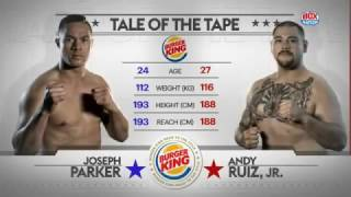 Joseph Parker Vs Andy Ruiz Jr (12.10.2016) Full Fight