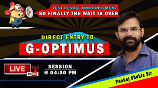 Surprise Test Result I Gateway to G-OPTIMUS I Surprises for every appeared G Saviour Members