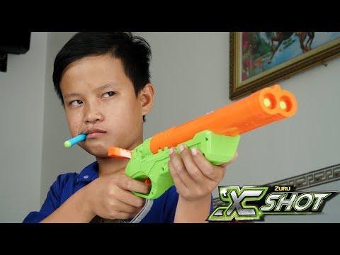 Đồ Chơi Bắn Súng Nerf Cuộc Chiến Nerf Và Xshot: NERF VS XSHOT BATTLE SHOT