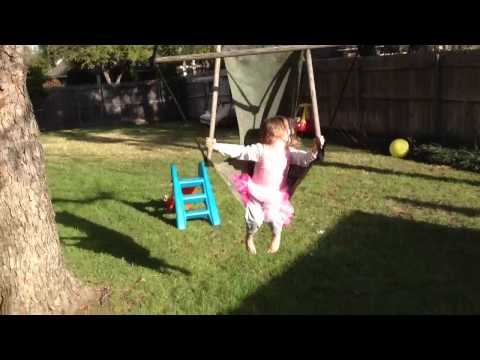 Our 3½ year-old girl on swing