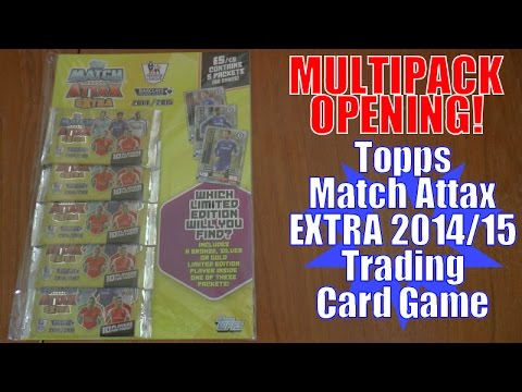 MULTIPACK...YOUTUBE PREMIERE! ⚽️ topps MATCH ATTAX EXTRA 2014/15 Trading Cards ⚽️ OPENING